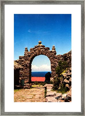 Framed Print featuring the photograph Ancient Portal by Suzanne Luft