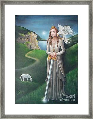 Framed Print featuring the painting Ancient Queen by S G
