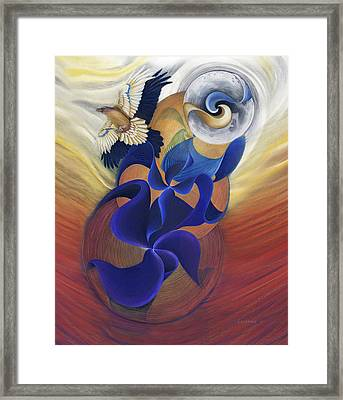 Ancient Raven Reborn Framed Print