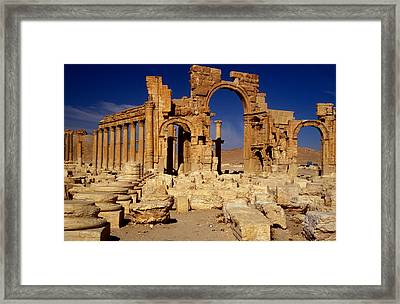 Ancient Roman City Of Palmyra, Syria Photo Framed Print by .