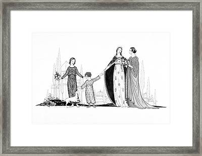Ancient Roman Women Framed Print by Claire Avery