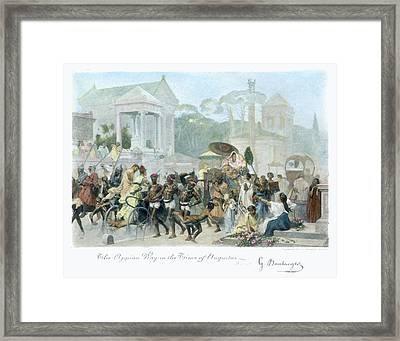 Ancient Rome Appian Way Framed Print