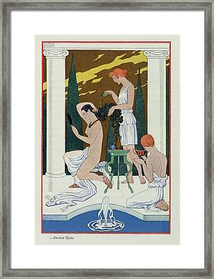 Ancient Rome Framed Print by Georges Barbier