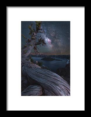 Crater Lake Framed Prints