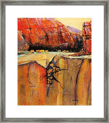 Ancient Ruins Framed Print by JAXINE Cummins