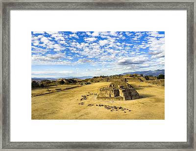 Ancient Ruins Of A Zapotec Temple Framed Print by Mark E Tisdale