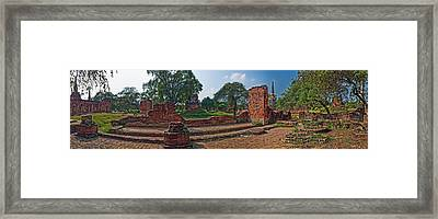 Ancient Ruins Of Ayutthaya Historical Framed Print by Panoramic Images