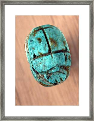 Ancient Scarab Amulet Framed Print by Dirk Wiersma