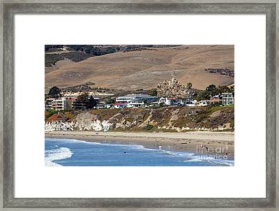 Ancient Sea Stack At Pismo Beach Framed Print by Susan Wiedmann