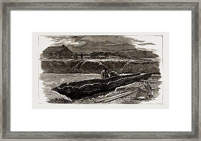 Ancient Ship Recently Discovered At Brigg Framed Print by Litz Collection