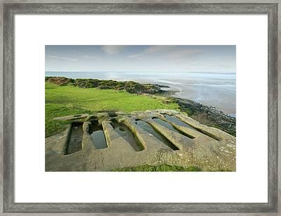 Ancient Stone Graves Framed Print