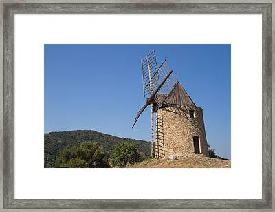 Ancient Stone Windmill Framed Print by Jaroslav Frank