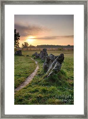 Ancient Stones Sunrise  Framed Print