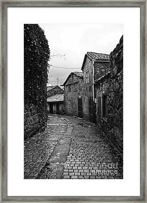 Ancient Street In Tui Bw Framed Print