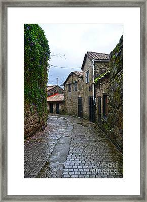 Ancient Street In Tui Framed Print
