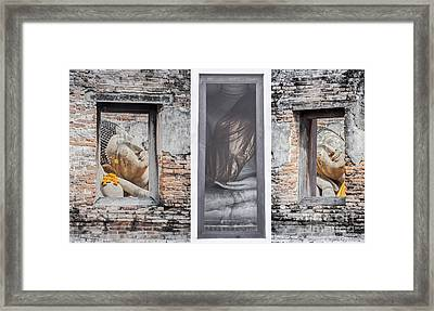 Ancient Temple In Ayuthaya Historical Park Framed Print by Anek Suwannaphoom