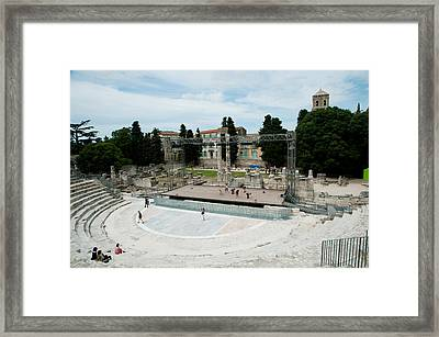 Ancient Theatre Built 1st Century Bc Framed Print