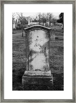 Ancient Tombstone Framed Print
