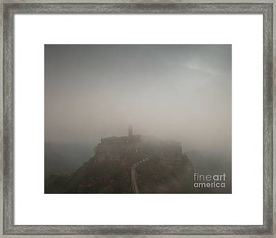 Ancient Town Of Civita Di Bagnoregio Lazio Italy Framed Print by Matteo Colombo