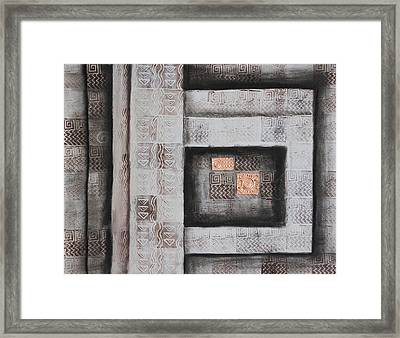 Ancient Treasury Framed Print by Diana Perfect