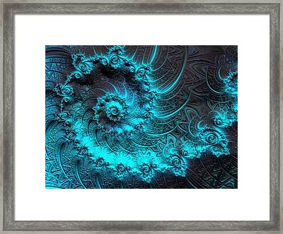 Ancient Verdigris -- Triptych 1 Of 3 Framed Print by Susan Maxwell Schmidt