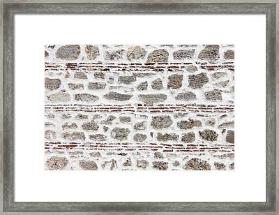 Ancient Wall Background Framed Print by Kiril Stanchev