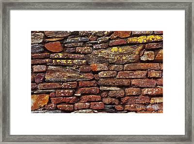 Ancient Wall Framed Print by Carlos Caetano