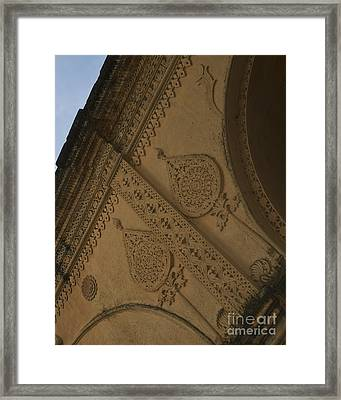 Framed Print featuring the photograph Ancient Wall by Mini Arora