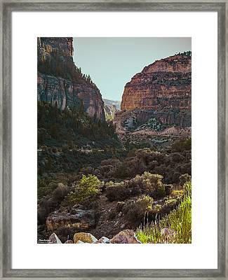 Framed Print featuring the photograph Ancient Walls In Wyoming by Karen Musick