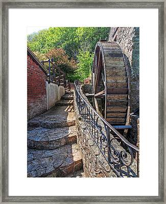 Ancient Watermill - Le Moulin De Lecq Framed Print by Gill Billington