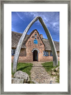 Ancient Whale's Jawbones Gate Framed Print by Heiko Koehrer-Wagner