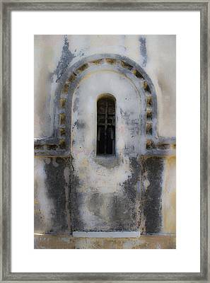 Ancient Window Framed Print by Radoslav Nedelchev
