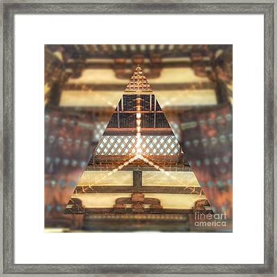 Ancient Wooden Window Framed Print by Beverly Claire Kaiya