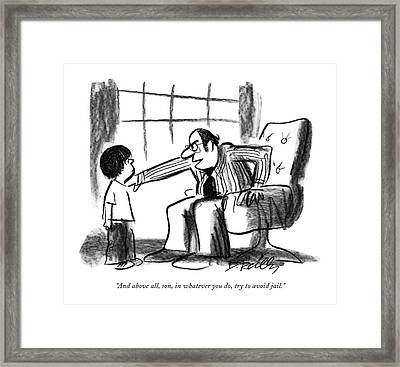 And Above All Framed Print by Donald Reilly