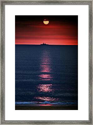 And All The Ships At Sea Framed Print by Tom Mc Nemar