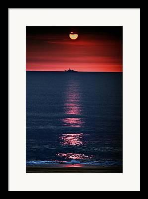 Moon Rise Framed Prints