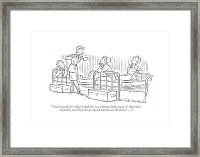 And Around The Collar It Had The Most Divine Framed Print by Roberta Macdonald