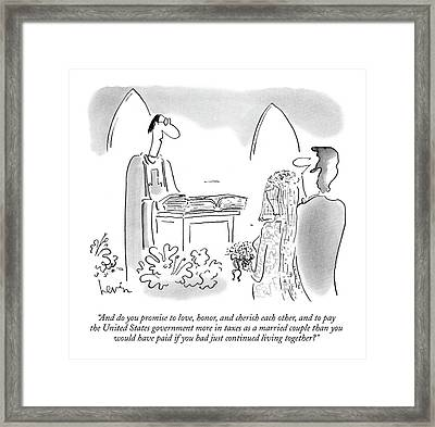 And Do You Promise To Love Framed Print