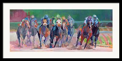 Racehorse Framed Prints