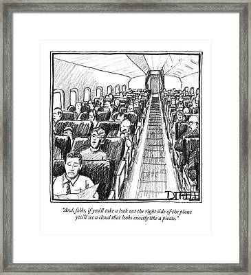 And, Folks, If You'll Take A Look Out The Right Framed Print