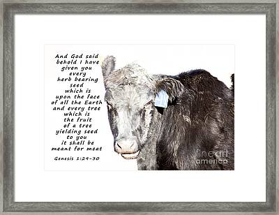 And God Said Framed Print by Janice Rae Pariza