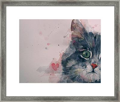 And I Love Her Framed Print
