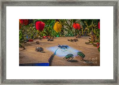 And I Will Invite The One With Pearl Wings Framed Print