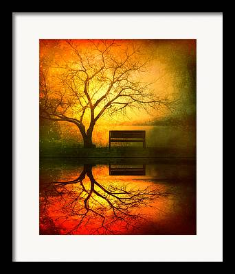 Sunset Reflection Framed Prints