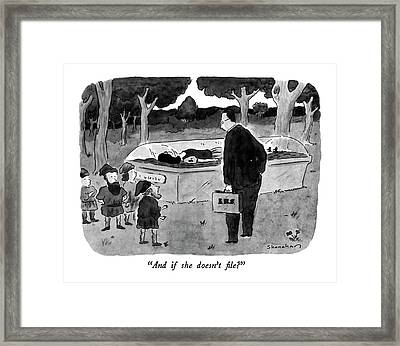 And If She Doesn't File? Framed Print by Danny Shanahan