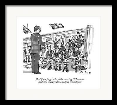Basketball Drawings Framed Prints