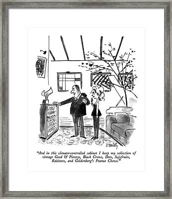 And In This Climate-controlled Cabinet I Keep Framed Print by Donald Reilly