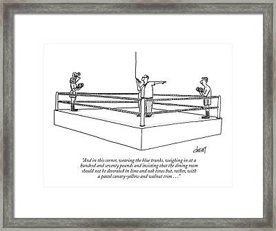 And In This Corner Framed Print