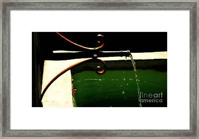 And It Never Stops Framed Print by Susanne Van Hulst