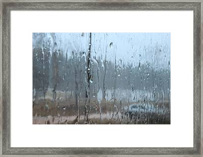 And It Poured Framed Print by C Devon Brown